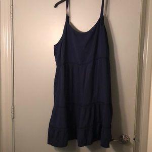 Spaghetti Strap Navy Dress